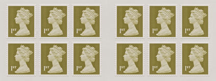 Queen Elizabeth, Stamp Stock Photography