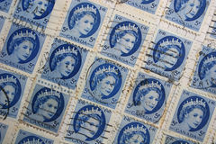 Queen Elizabeth stamps Royalty Free Stock Photography