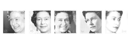 Queen Elizabeth, Stamps Royalty Free Stock Photography
