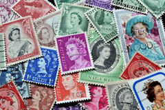 Queen Elizabeth stamps Royalty Free Stock Photos
