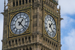Queen Elizabeth Tower Big Ben London at Houses of Parliament Stock Photo