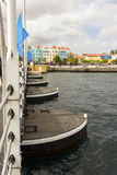 The Queen Emma pontoon bridge. stock photo
