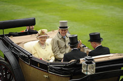 Queen of England. Queen elizabeth II at royal ascot 2011 Royalty Free Stock Photos