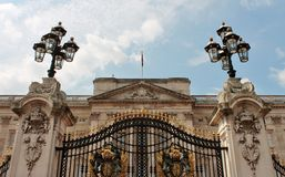 Queen of England Buckingham Palace London Royalty Free Stock Photo