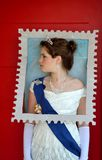 Queen of England stamp Stock Photo
