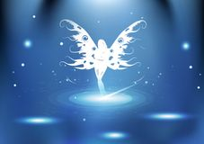 Queen fairy fantasy with glowing particles galaxy light bright e vector illustration