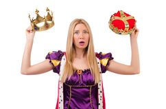 Queen in funny concept Royalty Free Stock Images