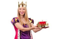 Queen in funny concept Stock Images