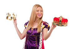 Queen in funny concept Stock Photography