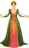 Queen in green dress Royalty Free Stock Images