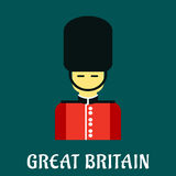 Queen guard soldier flat icon Royalty Free Stock Image