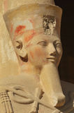 Queen Hatshepsut. Giant statue of Paharaoh Queen Hatshepsut at Thebes in Egypt Royalty Free Stock Images