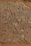 Queen Hatshepsut. Queen Hapshepsut, one of the few female pharaohs, shown in the bas-relief from Hatshepsut's Red Chapel in the Karnak Temple near Luxor ( Royalty Free Stock Photo