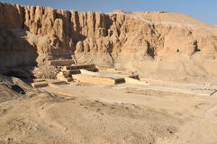 Queen Hatshepsut's Temple. The ancient egyptian mortuary temple of queen Hatshepsut at Luxor in Egypt Royalty Free Stock Photos