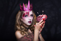 Queen with heart Royalty Free Stock Image