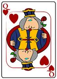 Queen Of Hearts. Illustration of a playing card with the Queen of hearts Royalty Free Stock Photo