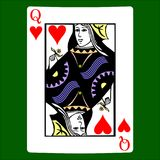 Queen hearts. Card suit icon , playing cards symbols royalty free illustration