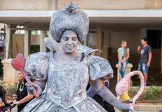 The Queen of Hearts, character from the Alice's Adventures in Wonderland. REHOVOT, ISRAEL - JULY 4, 2018: The Queen of Hearts, character from the Alice's stock images