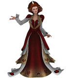Queen of hearts. 3D render of a fantasy queen of hearts Royalty Free Stock Photography