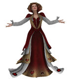 Queen of hearts. 3D render of a fantasy queen of hearts Royalty Free Stock Photos