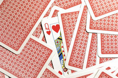 Queen of hearts. Queen of heats in a deck of cards Royalty Free Stock Photography