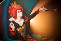 Queen of Hearts orders royalty free stock photos