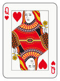 Queen of hearts. Playing card