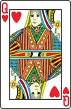 Queen of hearts. Playing card, vector illustration Royalty Free Stock Image