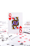 A queen of hearts Royalty Free Stock Photos