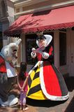 Queen of Hearts and White Rabbit at Disneyland Stock Images