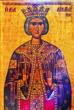 Queen Helena Golden Icon Saint George Church Madaba Jordan Stock Images