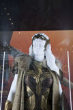 Queen Hippolyta costume on display at NY Comic Con Stock Photo