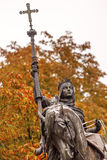 Queen Isabella Statue Marching into Granada 1492 Madrid Spain Royalty Free Stock Images
