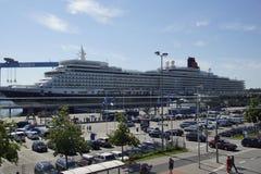 The Queen at Kiel Stock Photos