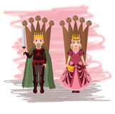 Queen and king Stock Images