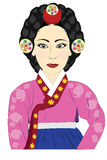 Queen korean. Of Joseon lady of Palace Royalty Free Stock Image