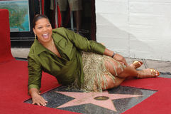 Queen Latifah. Actress/singer QUEEN LATIFAH on Hollywood Boulevard where she was honored with the 2,298th star on the Hollywood Walk of Fame. January 4, 2006 Royalty Free Stock Image