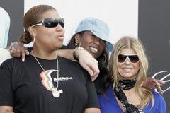 5th Annual Celebrity Cadillac Super Bowl Grand Prix. Queen Latifah L, Missy Elliott C and Fergie participate in the 5th annual celebrity Cadillac Super Bowl royalty free stock photos