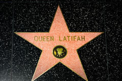 Queen Latifah Star on the Hollywood Walk of Fame. HOLLYWOOD, CA/USA - APRIL 18, 2015: Queen Latifah star on the Hollywood Walk of Fame. The Hollywood Walk of Royalty Free Stock Image