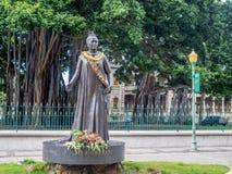 Queen Lili`uokalani Statue Stock Photo