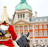 For    the queen in lon don england horse and cavalry Royalty Free Stock Images