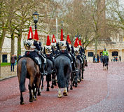 For    the queen in lond on england horse and cavalry Stock Photo