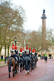 For     queen in london   horse and cavalry Stock Images