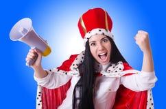Queen with loudspeaker  Stock Photography