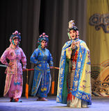 The queen and maids-Beijing Opera: Farewell to my concubine Stock Photos