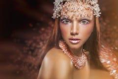 Queen makeup Royalty Free Stock Image
