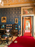 Queen Maria Pia bedroom. In Ajuda National Palace Stock Image