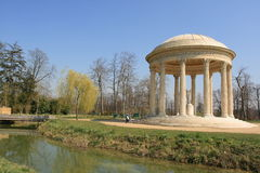 Queen Marie Antoinette's garden in Versailles Stock Images