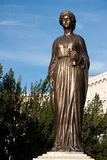 Queen Marie of Romania. Sculpture created in 2012. Is situated in front of Oradea State Theatre Maria Royalty Free Stock Images
