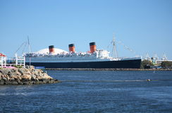 Queen Mary. Large ship Queen Mary in the long beach harbor, california Royalty Free Stock Images